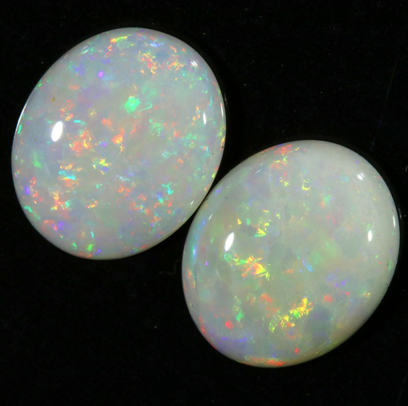 4.87CTS COOBER PEDY OPAL PAIR GREAT COLOUR PLAY  S447