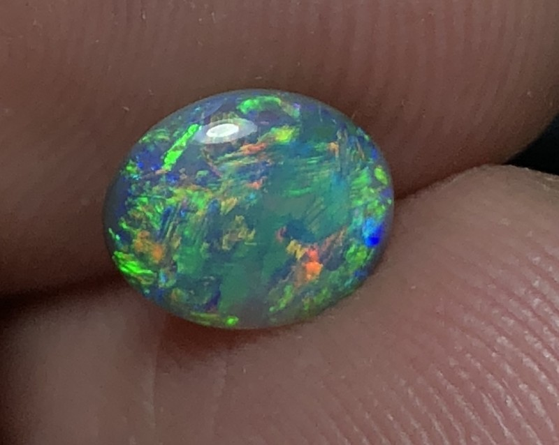 1.05ct Lightning Ridge Gem Black Opal LRS409