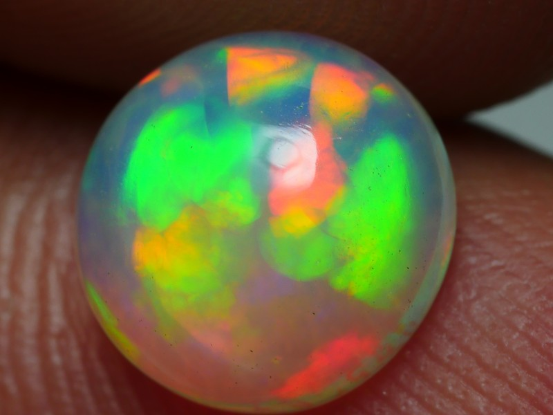 1.20 CRT BEAUTY ROUND RIBBON PATTERN FLORAL 5/5 SPIDER WELO OPAL