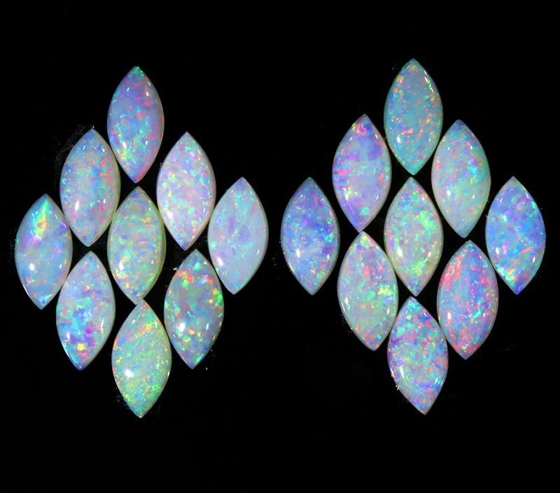 6.94CTS 18 PIECES CALIBRATED OPAL PARCEL GREAT COLOR PLAY- S489