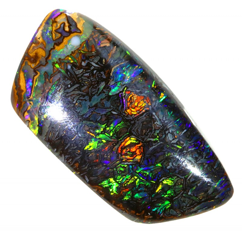8.05CTS BOULDER OPAL SHOWING GREAT COLOR PLAY S491