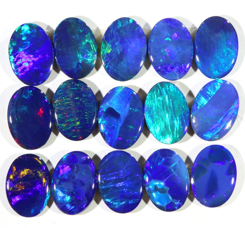 6.60CTS 15 PIECES CALIBRATED OPAL DOUBLET PARCEL GREAT COLOR PLAY -S501