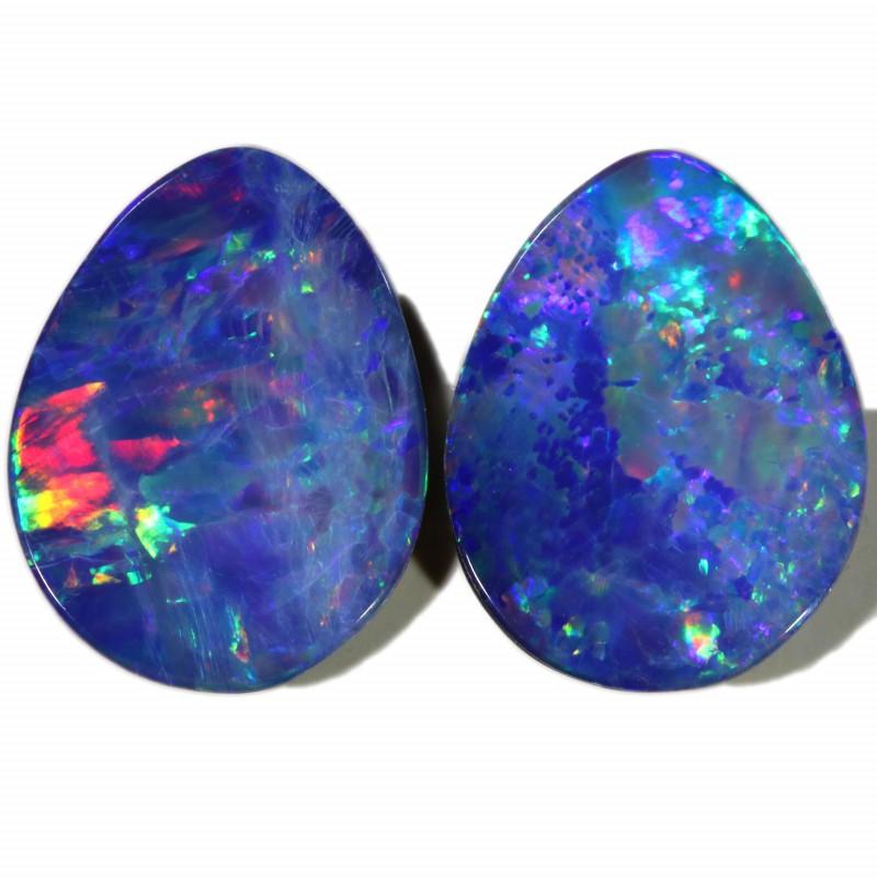 3.92 Cts parcel gem Opal Doublets  Pair SU1555
