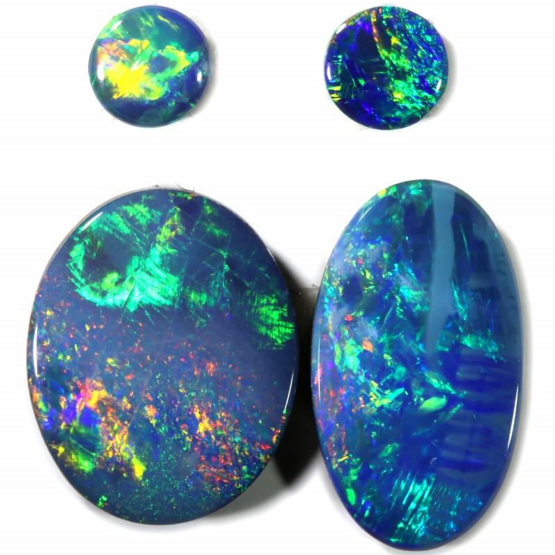 4.03 Cts parcel gem Opal Doublets  Pair SU1560