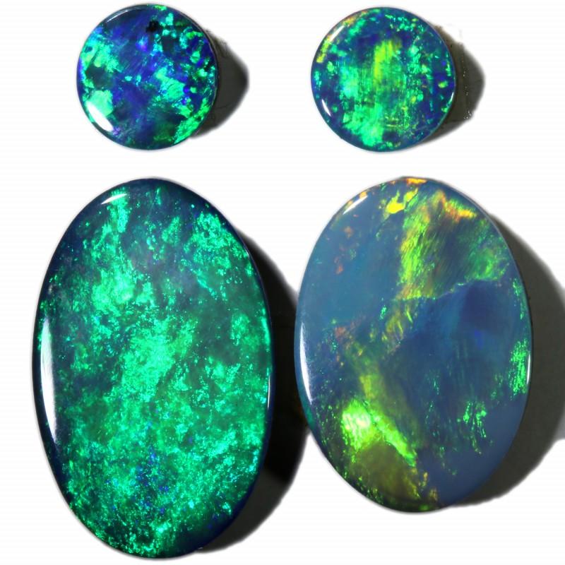 3.18 Cts parcel gem Opal Doublets  Pair SU1564