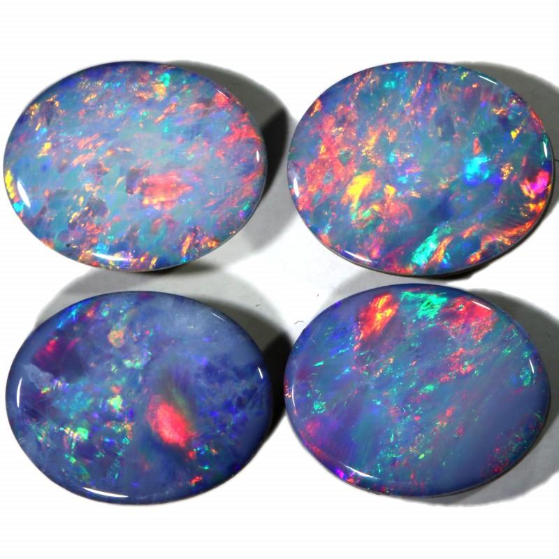 5.61 Cts parcel gem Opal Doublets  Set 4 SU1567