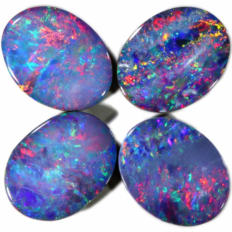 4.09 Cts parcel gem Opal Doublets  Set 4 SU1570