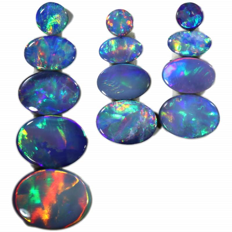 4.66 Cts parcels gem Opal Doublets SU1579