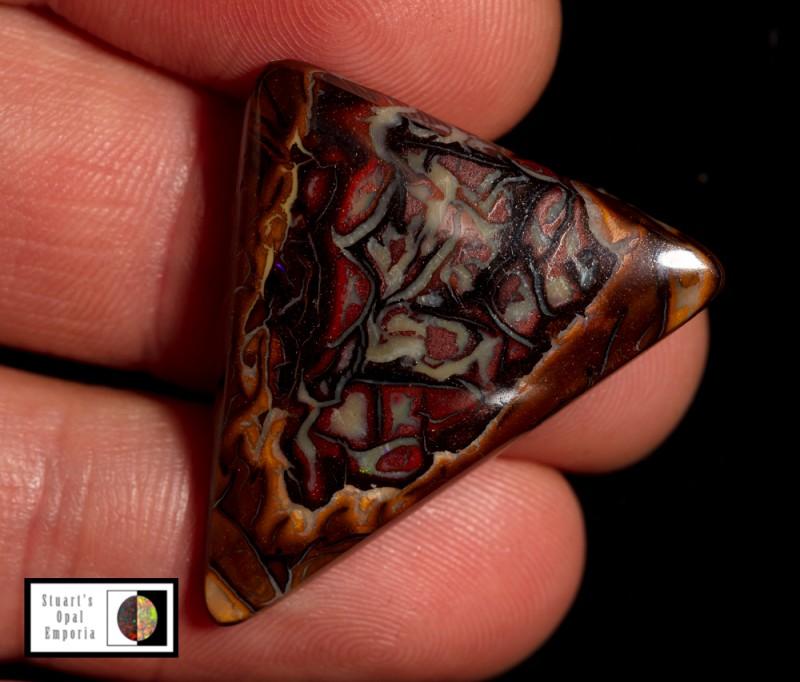 SALE 24.70 carat Koroit Boulder Opal lovely natural pattern