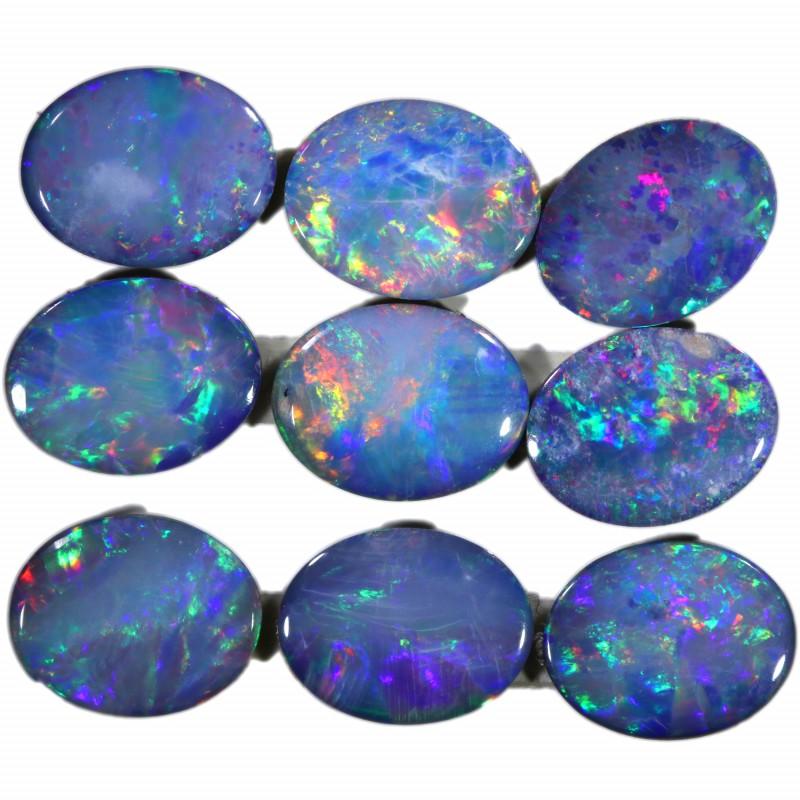 6.05 Cts calibrated parcels gem Opal Doublets SU1605