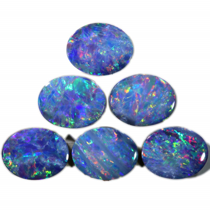 6.57 Cts calibrated parcels gem Opal Doublets SU1611