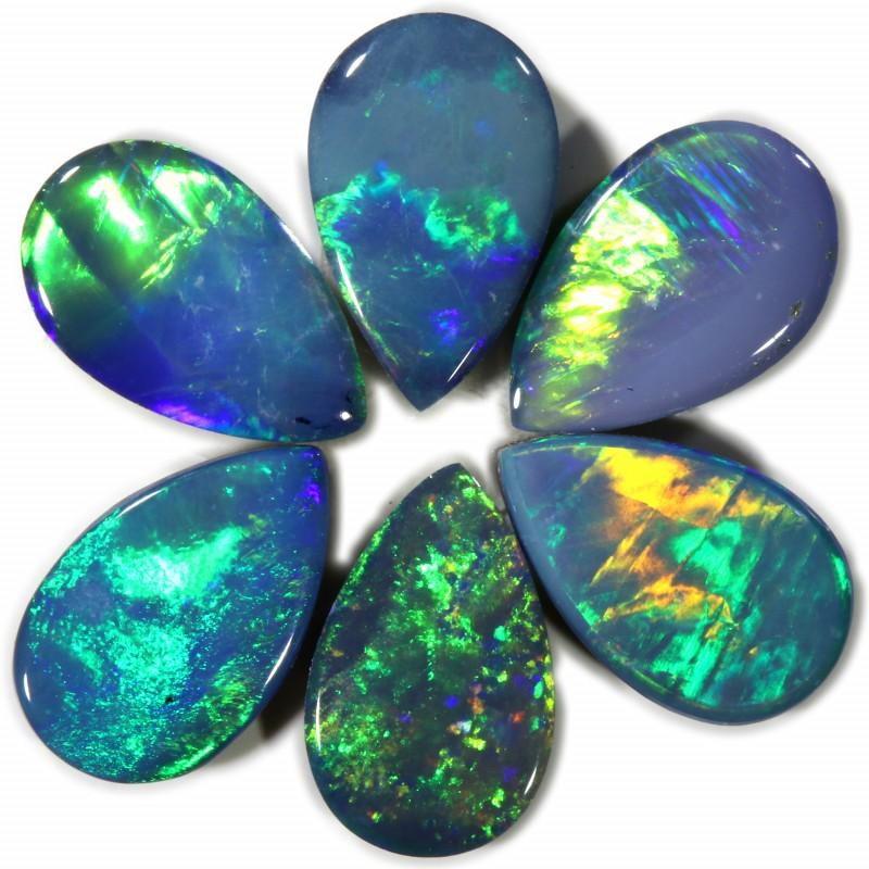 2.79 Cts calibrated parcels gem Opal Doublets SU1612