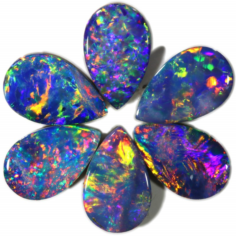 2.70 Cts calibrated parcels gem Opal Doublets SU1616