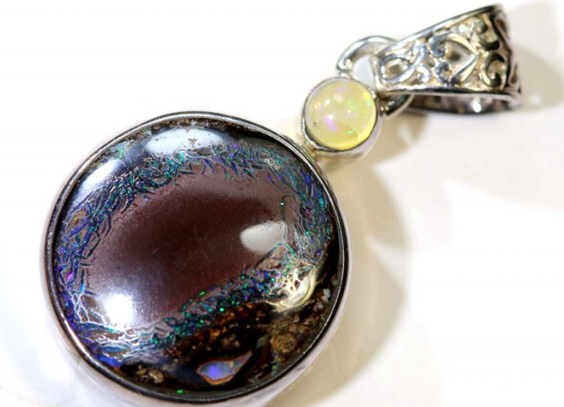 29.20- CTS YOWAH OPAL SILVER PENDANT OF-2346