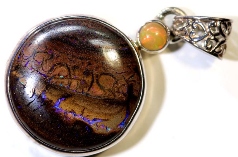 34.95- CTS YOWAH OPAL SILVER PENDANT OF-2350