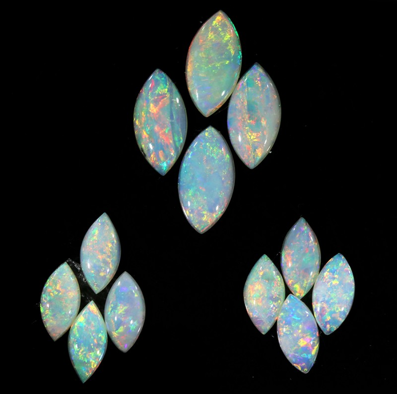 2.46CTS 12 PIECES CALIBRATED OPAL PARCEL GREAT COLOR PLAY- S626