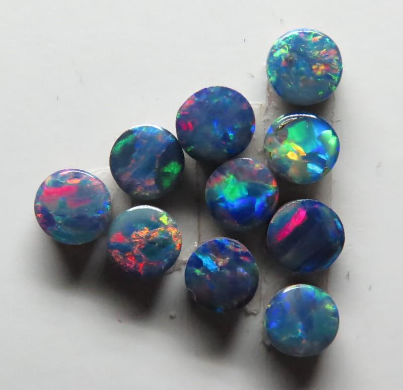3.50mm Round  Stone Australian Doublet Opal Parcel
