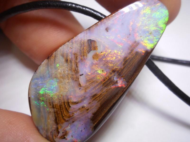 76.25ct Boulder Opal Polished Stone Pendant
