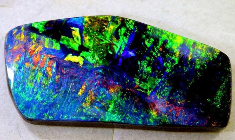 26.60-CTS QUALITY BOULDER OPAL POLISHED STONE  INV-987
