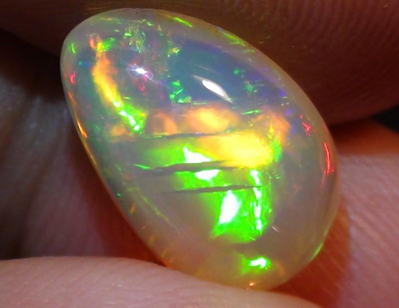 3.80 ct Ethiopian Welo Opal Full Gem Rainbow