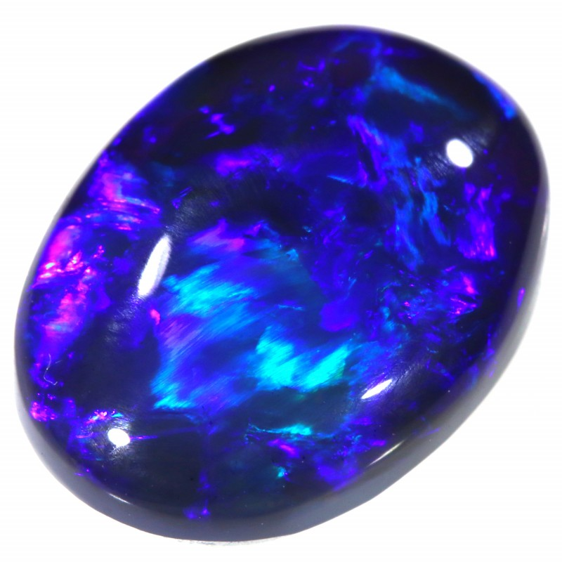 3.70 CTS BLACK OPAL STONE-LIGHTNING RIDGE- [SAFE162]