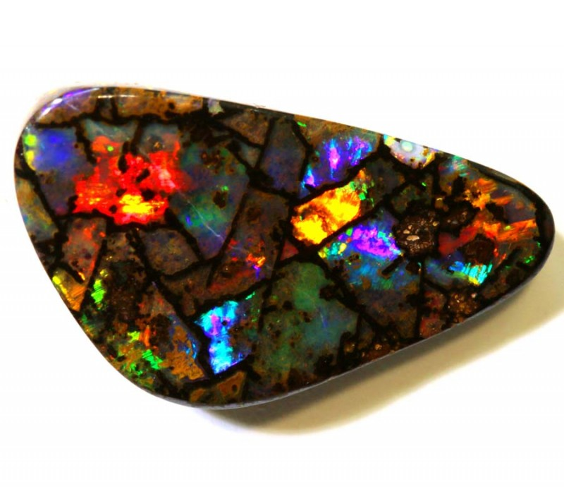 8.85-CTS QUALITY BOULDER OPAL POLISHED STONE  INV-