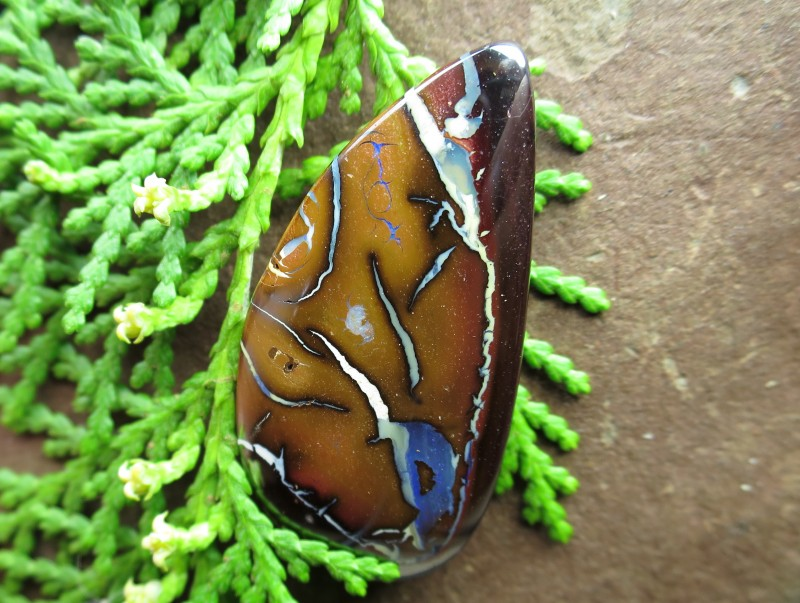 "55cts,""BOULDER MATRIX OPAL~YOWAH OPALS 2U DIRECT"""