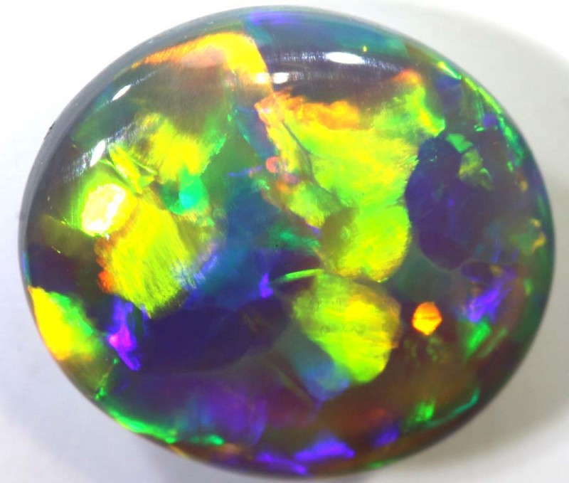 N4 1.44- CTS QUALITY BLACK OPAL POLISHED STONE INV-997
