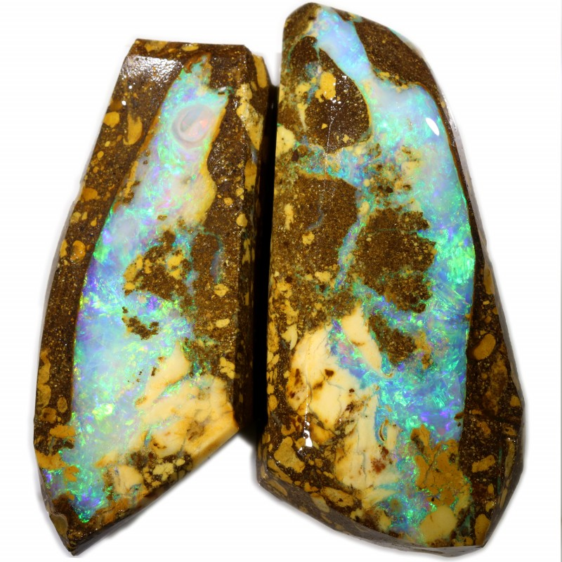 261.40 CTS BOULDER PIPE OPAL ROUGH PAIR -JUNDAH  [BY7503]