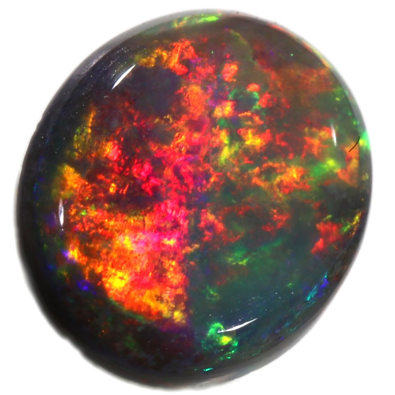 0.65 CTS BLACK OPAL STONE- FROM MINTABIE -  [SAFE182]