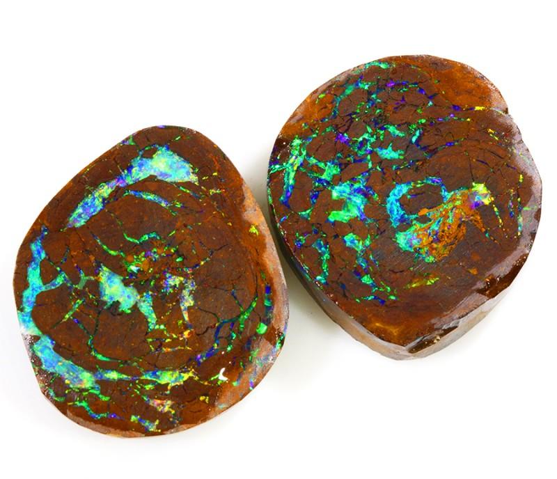 37.00cts  Koroit Boulder Opal Pairs WS288