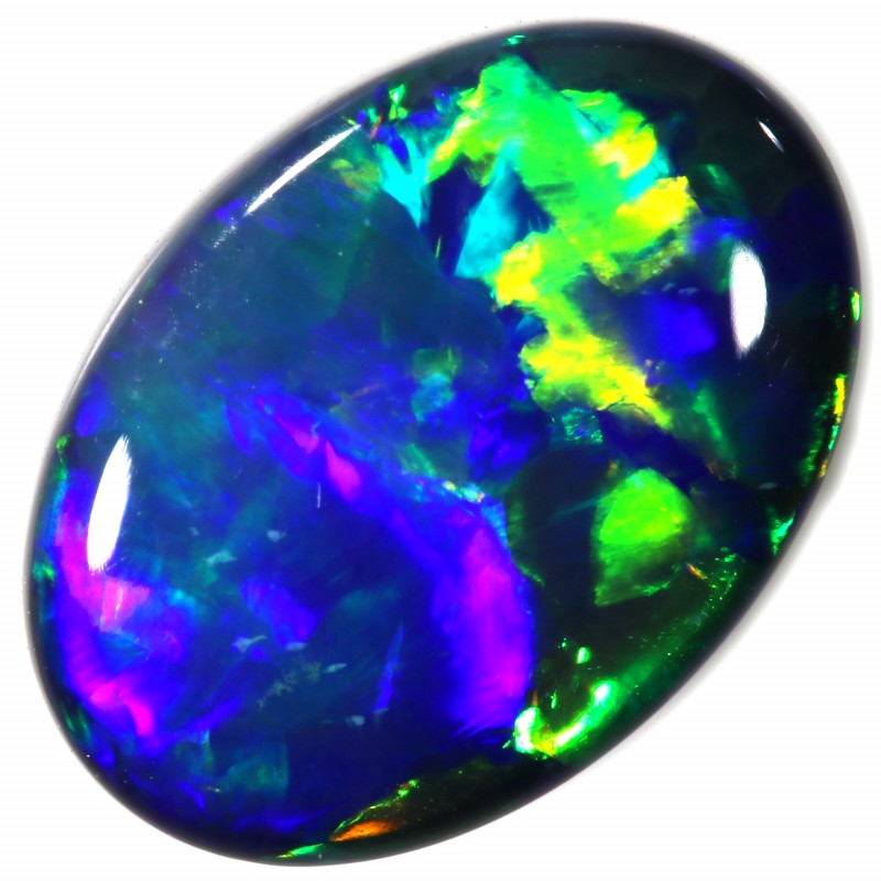 1.28 CTS BLACK OPAL STONE  ORANGE GLOW -LIGHTNING RIDGE- [LRO275]
