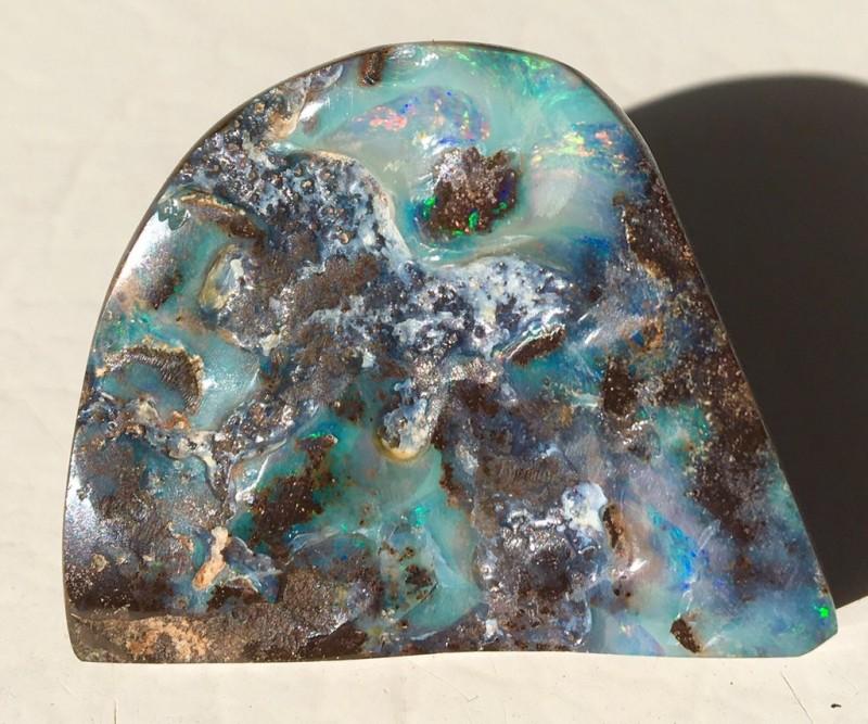 Boulder Opal polished speciman