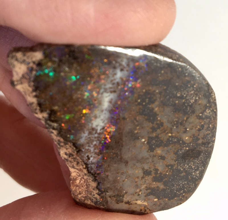 56.20 cts Solid Black Boulder Matrix Opal from Quilpie