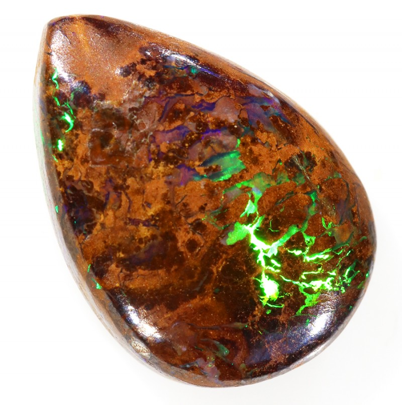 7.80CTS BOULDER MATRIX POLISHED STONE FLASHES OF ELECTRIC COLOUR - S736