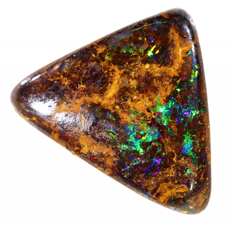 11.35CTS BOULDER MATRIX POLISHED STONE FLASHES OF ELECTRIC COLOUR - S737