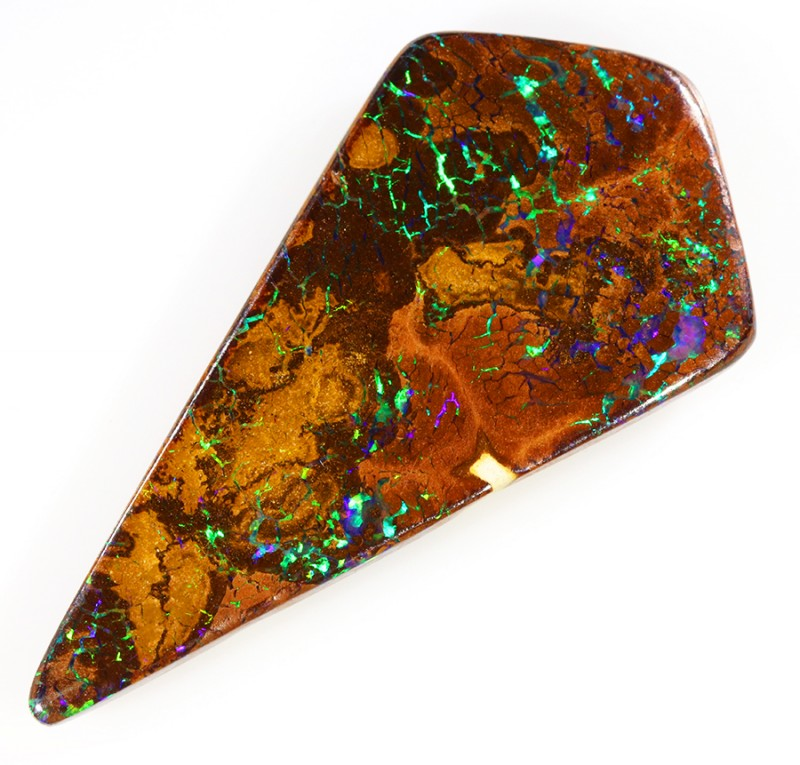 18.45CTS BOULDER MATRIX POLISHED STONE FLASHES OF ELECTRIC COLOUR - S755