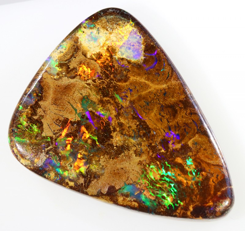 24.85CTS BOULDER MATRIX POLISHED STONE FLASHES OF ELECTRIC COLOUR - S756