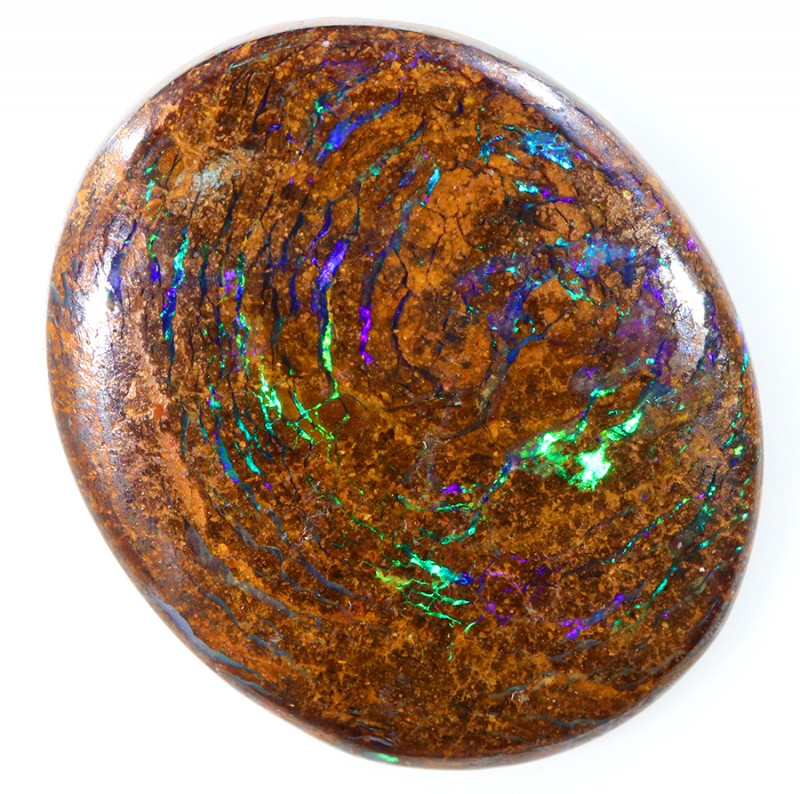 22.75CTS BOULDER MATRIX POLISHED STONE FLASHES OF ELECTRIC COLOUR - S758
