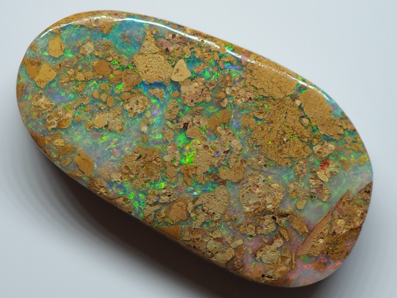 22.00CT VIEW  WOOD REPLACEMENT BOULDER OPAL OI907
