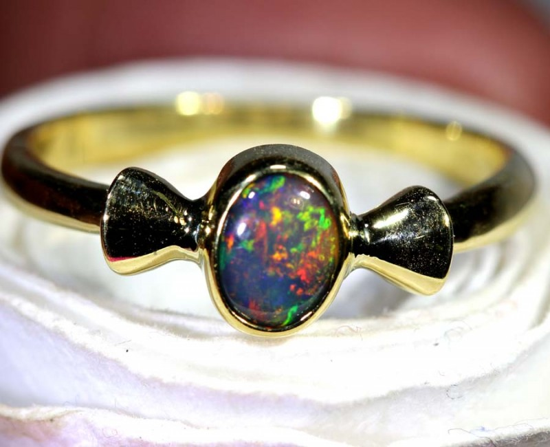 14.10-CTS  OPAL 18K GOLD RING OF-2352