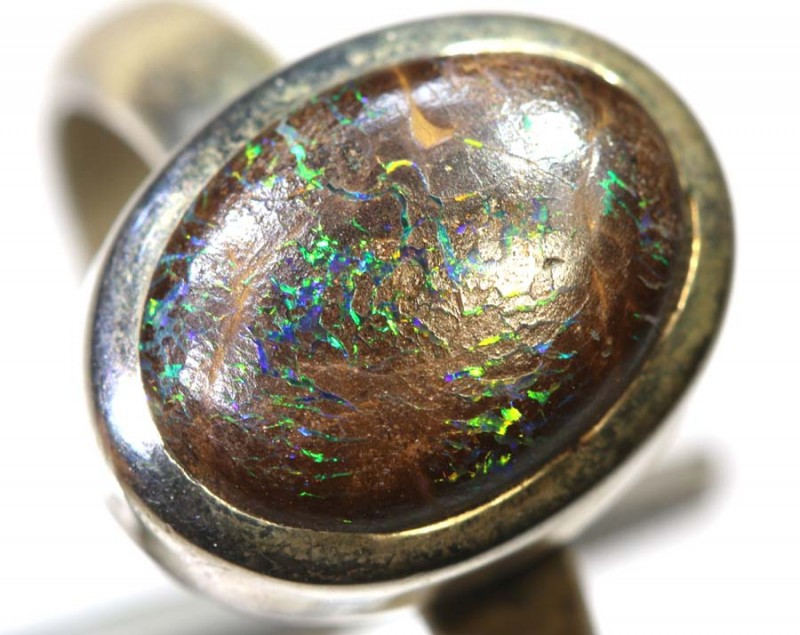 24.45- CTS KOROIT OPAL SILVER RING OF-2379