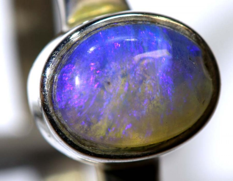 13.65- CTS PIPE OPAL SILVER RING OF-2416