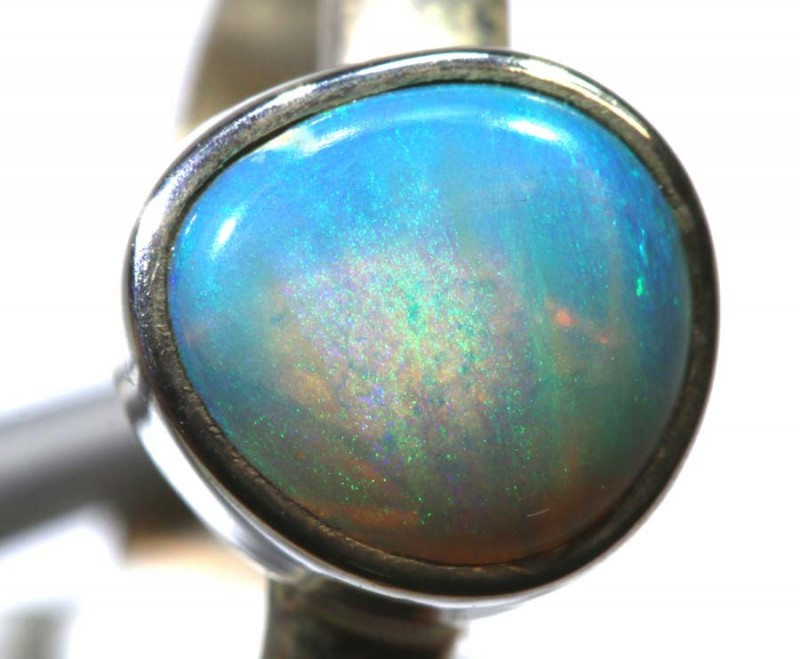 12.85- CTS PIPE OPAL SILVER RING OF-2421