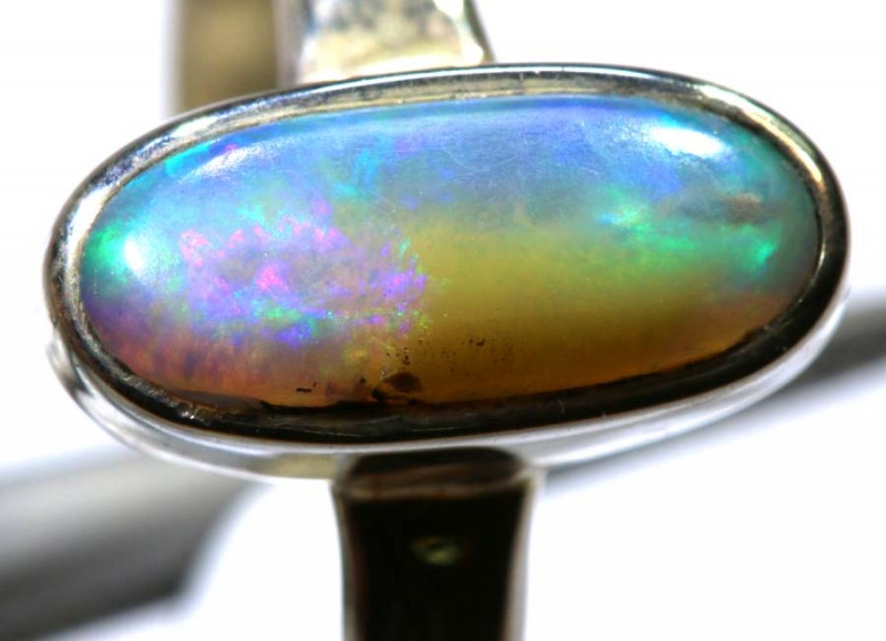13.70- CTS PIPE OPAL SILVER RING OF-2423