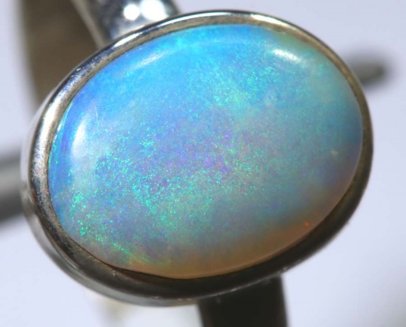 14.40- CTS PIPE OPAL SILVER RING OF-2427