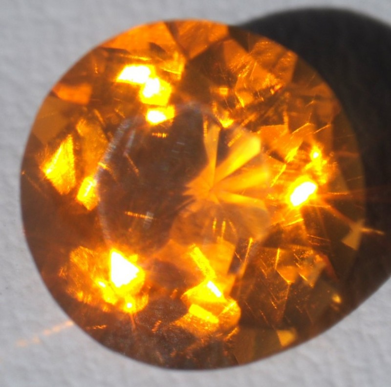 1.23ct Sparkling Rich Mango Mexican Fire Opal