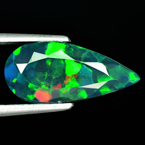 2.15 Cts Smoked Multi Color Play Ethiopian Black Opal Pear