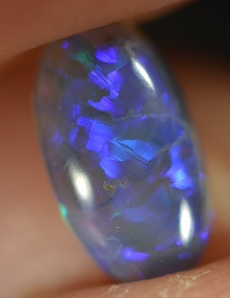 1.00 CTS CRYSTAL OPAL - VERY BRIGHT LIGHTNING RIDGE GEM - ID:1211