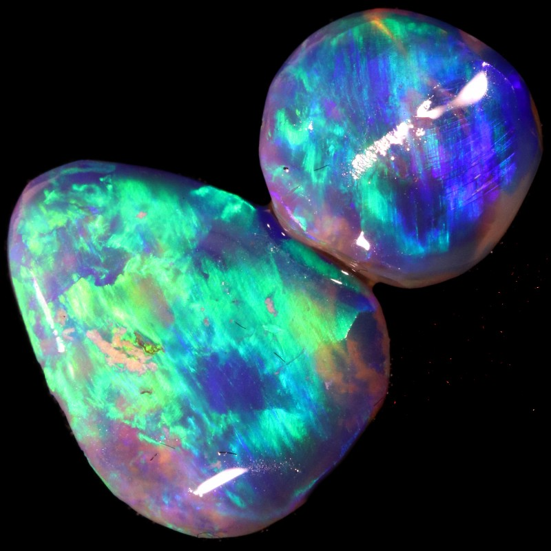 3.95 CTS CRYSTAL OPAL ROUGH FROM LIGHTNING RIDGE [BR5724]
